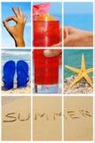 Collage de la playa Fotografía de archivo