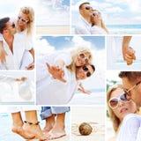 Collage de la playa Imagen de archivo libre de regalías