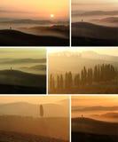 Collage de la puesta del sol Imágenes de archivo libres de regalías
