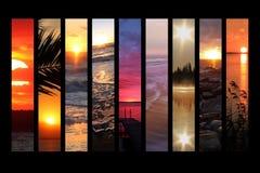 Collage de la puesta del sol Imagen de archivo libre de regalías