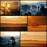 Collage de la salida del sol Fotografía de archivo libre de regalías