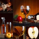 Collage de la sidra de Apple Imágenes de archivo libres de regalías