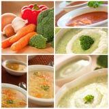 Collage de la sopa de vehículos Fotos de archivo
