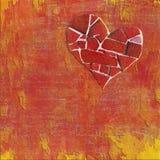 Collage de la tarjeta del día de San Valentín Imagen de archivo libre de regalías