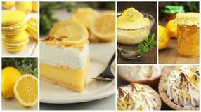 Collage de la tarta del limón Fotografía de archivo libre de regalías