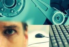 Collage de la tecnología Imágenes de archivo libres de regalías