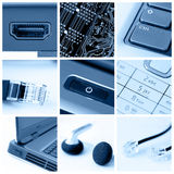Collage de la tecnología Fotos de archivo