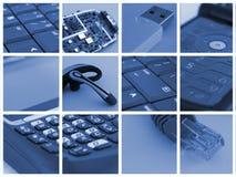 Collage de la tecnología Imagen de archivo