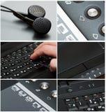 Collage de la tecnología Foto de archivo