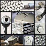 Collage de la tecnología Fotografía de archivo