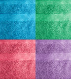 Collage de la toalla Imagen de archivo