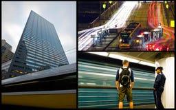 Collage de la tranvía Imagenes de archivo
