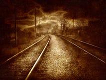Collage de la vendimia - ferrocarril viejo Fotografía de archivo libre de regalías