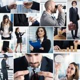 Collage de la vida empresarial foto de archivo libre de regalías