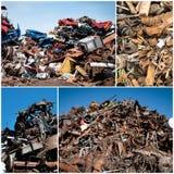 Collage de la yarda del pedazo Fotos de archivo libres de regalías
