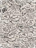 Collage de las burbujas del diálogo del cómic Fotografía de archivo libre de regalías