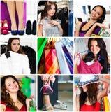 Collage de las compras Foto de archivo libre de regalías