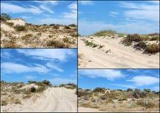 Collage de las dunas de arena cerca de Bunbury Australia occidental Imagenes de archivo