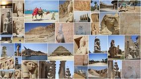 COLLAGE DE LAS ESTATUAS EN EGIPTO Imagen de archivo libre de regalías