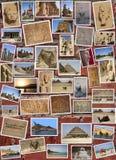 COLLAGE DE LAS ESTATUAS EN EGIPTO Fotos de archivo