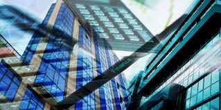 Collage de las finanzas Imagen de archivo libre de regalías