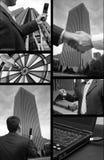 Collage de las finanzas del asunto Imagen de archivo libre de regalías