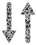 Collage de las flechas del intercambio de triángulos libre illustration