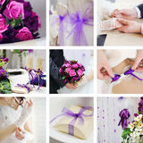 Collage de las fotos de la boda Fotografía de archivo libre de regalías