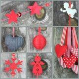 Collage de las fotos de la Navidad Fotos de archivo
