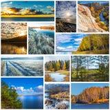 Collage de las fotos de la naturaleza imagen de archivo