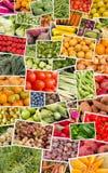 Collage de las frutas y verdura Foto de archivo libre de regalías