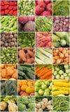 Collage de las frutas y verdura Fotografía de archivo libre de regalías