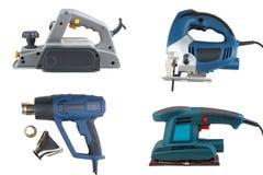 Collage de las herramientas eléctricas Imagenes de archivo