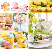 Collage de las imágenes coloridas de pascua Foto de archivo libre de regalías