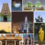 Collage de las imágenes de Kuala Lumpur (Malasia) imagenes de archivo
