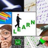 Collage de las imágenes de la educación Fotografía de archivo libre de regalías