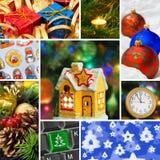 Collage de las imágenes de la Navidad Foto de archivo libre de regalías