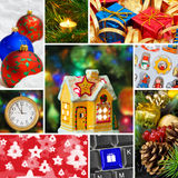 Collage de las imágenes de la Navidad Fotos de archivo libres de regalías