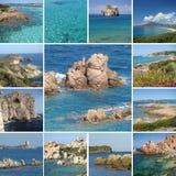 Collage de las imágenes del recorrido de Cerdeña imagen de archivo libre de regalías