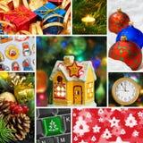 Collage de las imágenes de la Navidad Imagen de archivo