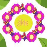 Collage de la primavera imagenes de archivo