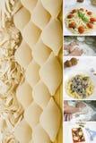 Collage de las pastas Fotografía de archivo