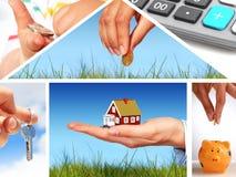 Collage de las propiedades inmobiliarias. Imágenes de archivo libres de regalías