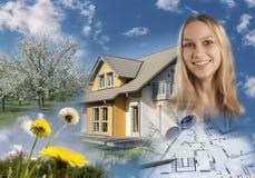 Collage de las propiedades inmobiliarias Fotografía de archivo libre de regalías