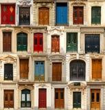Collage de las puertas Foto de archivo
