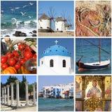 Collage de las señales de Grecia imagenes de archivo