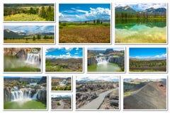 Collage de las señales de Idaho Fotografía de archivo