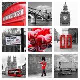 Collage de las señales de Londres Imágenes de archivo libres de regalías