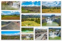 Collage de las señales de Idaho Imágenes de archivo libres de regalías