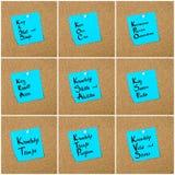 Collage de las siglas del negocio escritas en la nota de papel Fotos de archivo libres de regalías